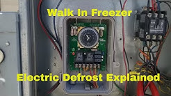 Walk in Freezer service call  (electric defrost explained)