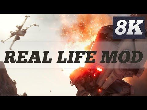 STAR WARS BATTLEFRONT REAL LIFE MOD | 8K PC GAMEPLAY | TITAN XP 4 WAY SLI | ThirtyIR