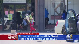 Stores Looted Along 87th Street Near The Dan Ryan Expressway