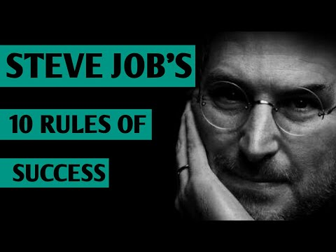 STEVE JOB'S 10 RULES OF SUCCESS (स्टीव जॉब्स की सफलता के 10 सूत्र)