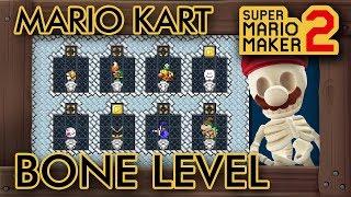 """Super Mario Maker 2 - Fun """"MARIO KART BONE"""" Level"""
