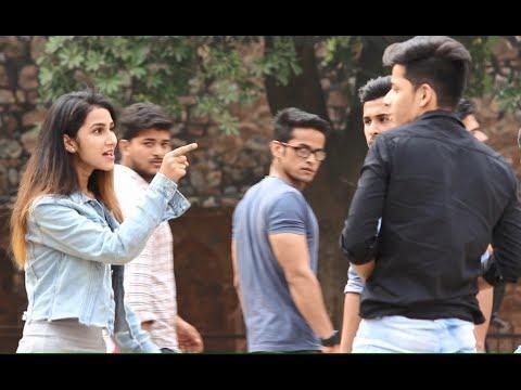 "GIRL SAYING ""App Muje Buri Nazar Sai Kyun Dekh Rahe Ho"" (Pranks In India)"