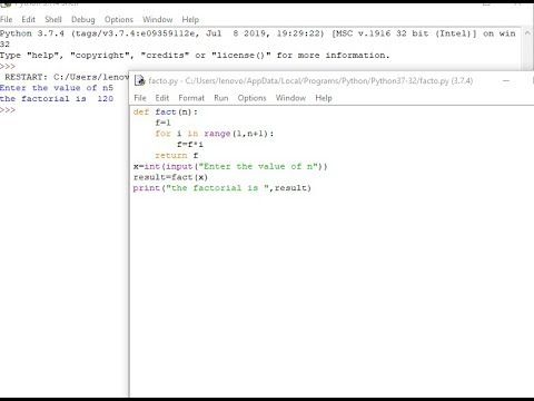 Python Tutorial for Beginners -Factorial thumbnail