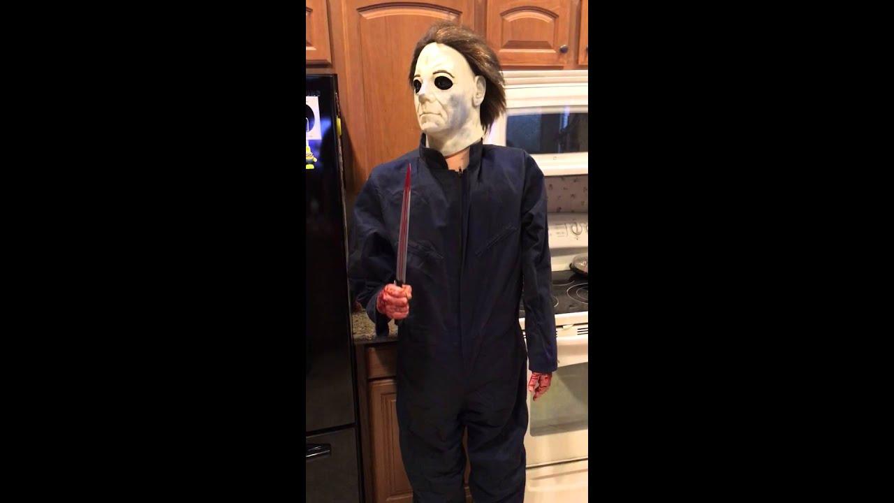 Lifesize Michael Myers Halloween H20 Gemmy Animatronic ...