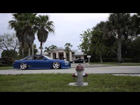 Slammed S14 drift