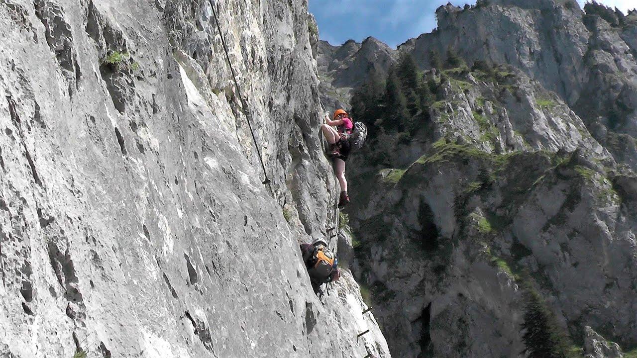Klettersteig Johnsbach : Kaiser franz joseph klettersteig youtube