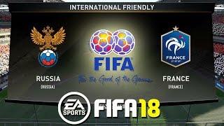 FIFA 18   Russia vs France   International Friendly 2018   Prediction Gameplay