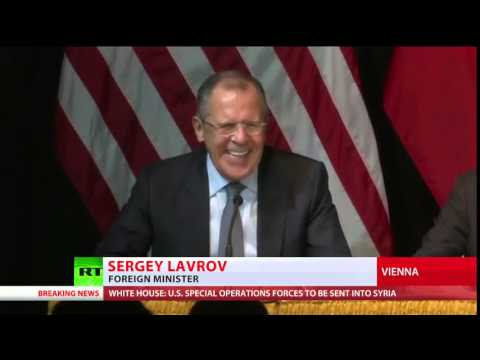 "Sergey Lavrov ""we will be back"" (funny) (Syria talks, Vienna 10-2015)"
