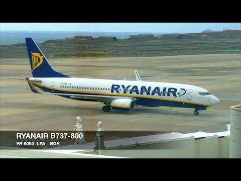 TRIP REPORT   Ryanair B737-800   Gran Canaria LPA ✈ Milan Bergamo BGY