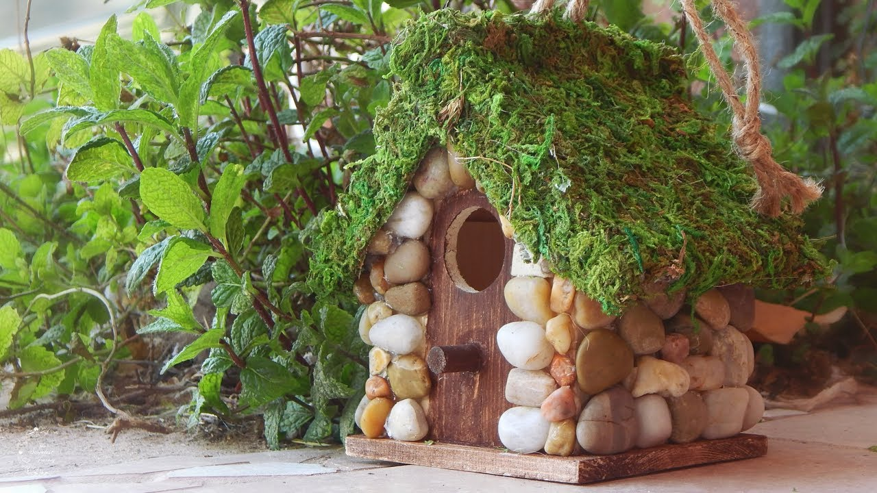 DIY Rustic Stone Cottage Birdhouse | How to Decorate a Birdhouse | The  Sweetest Journey