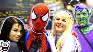 INSANE SPIDER-VERSE COMIC CON CHAOS! Spider-Man, Spider-Gwen, Gwenom - MELF