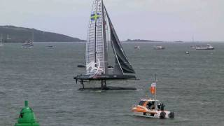 Spectacular Race Yacht Capsize - Americas Cup 2011