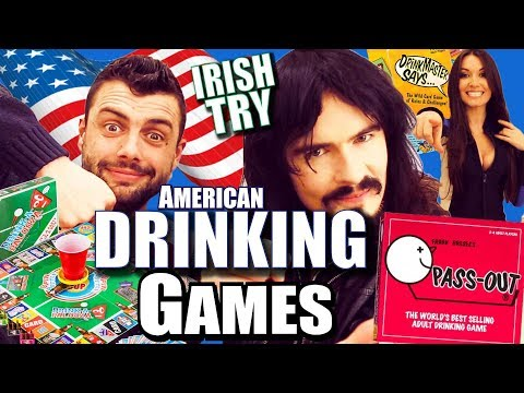 Irish People Try 'Best' AMERICAN DRINKING GAMES!!