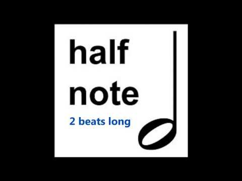 How To Count Half Notes or Minims. - Duration - Time Value - How To Read Music