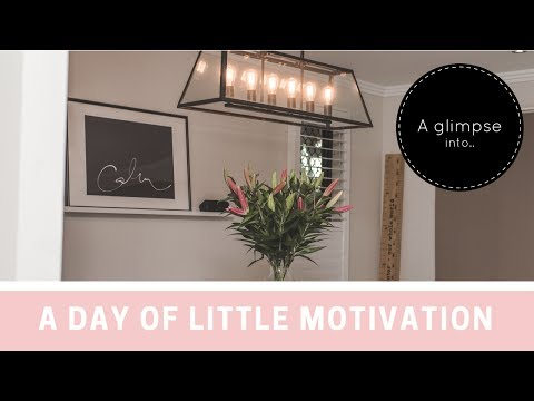 A day of little motivation.