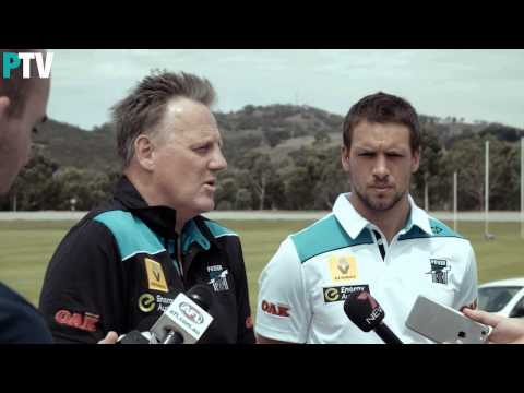 Keith Thomas and Travis Boak press conference  21 January, 2015