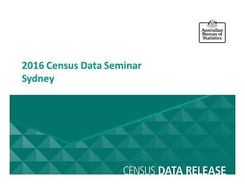 Sydney Census Data Seminar