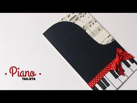 Carta Tarjeta Temática De Piano Fácil Y Bonito