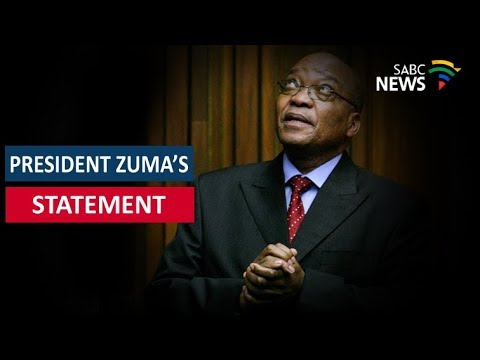 President Jacob Zuma addresses the nation