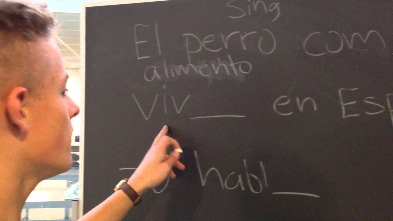 Spansk - Regelmæssige verber (Jonas og Anders)