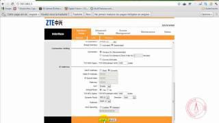 Configuration du modem ZTE ZXV10 W300