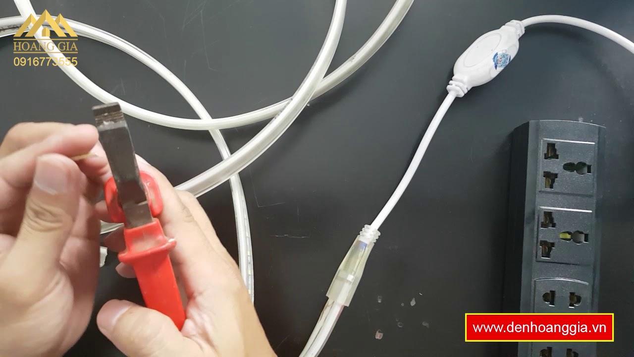 Hướng dẫn cách nối đèn led dây - Đèn Led Hoàng Gia