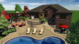 Mokena, IL - Outdoor Living Pool Design - VizX Design Studios - (331) 213-9866