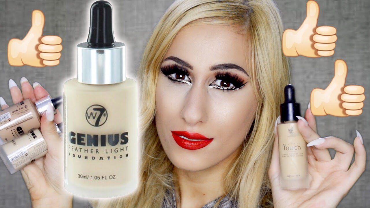 $6 YOUNIQUE Foundation DUPE But BETTER?!! 😱 W7 Genius Feather Light REVIEW  + DEMO!