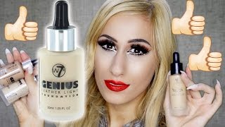 6 younique foundation dupe but better w7 genius feather light review demo