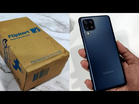 Samsung Galaxy F22 [Denim Black] Unboxing and First Impressions   Flipkart First Sale Unit