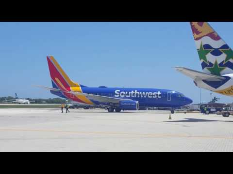 Southwest Inaugural flight to Cayman Islands