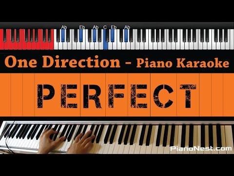 One Direction - Perfect - HIGHER Key (Piano Karaoke / Sing Along)