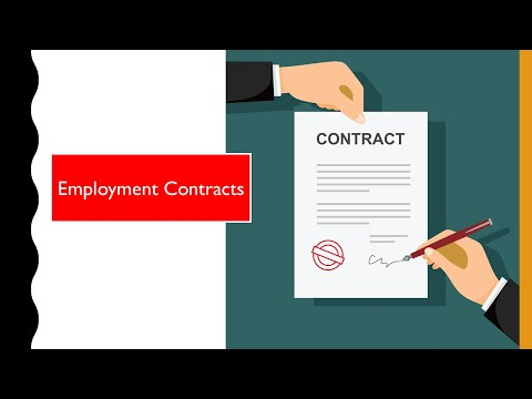 CAMBRIDGE AS & A LEVEL: 12.4 Employment Contracts