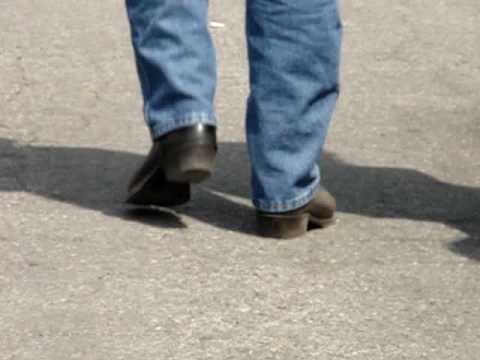 bootvideo 064 - George Walking Away In His Black Cowboy Boot - YouTube