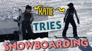 It's Snowboarding for the First Time Ever!  *Katie & Mom Play Hookie in Lake Tahoe*