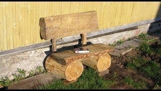 видео Резные скамейки для дачи из дерева, лавочки, проекты скамеек