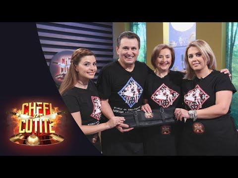 Nea Mărin, cu soția și fetele în noul sezon Chefi la cuțite