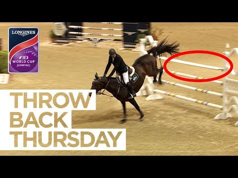 Gonzalez' incredible luck at the last fence #ThrowbackThursday | Longines FEI World Cup™ Jumping