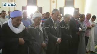 بالفيديو : محافظ المنيا يفتتح مسجد الرحمن بنجع الخطيب بملوي