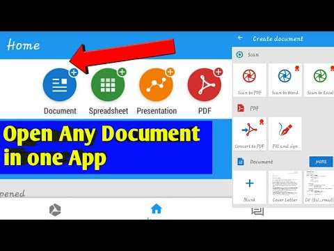 How to Open Any Computer Document (Ms Office,pdf) in Mobile|| Only one app