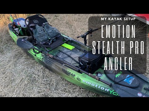 My Kayak Fishing Setup Emotion Stealth Pro Angler Youtube