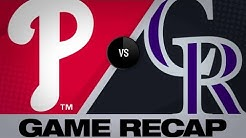 McMahon homers twice in Rockies' 6-2 win - 4/18/19