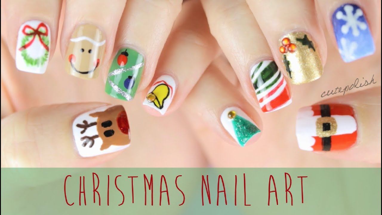 Nail Art for Christmas: The Ultimate Guide #2! - YouTube