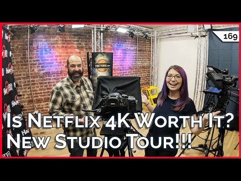 Netflix 4K Sucks For Feature Movies! Get 100GB on a 50GB Data Cap, New Studio Tour!!!