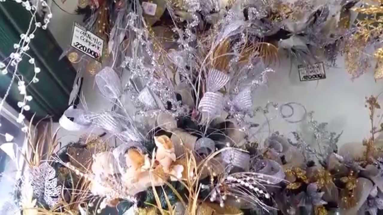 Decoracion arboles de navidad 2017 plata y dorado parte 7 - Decoracion de arboles de navidad ...