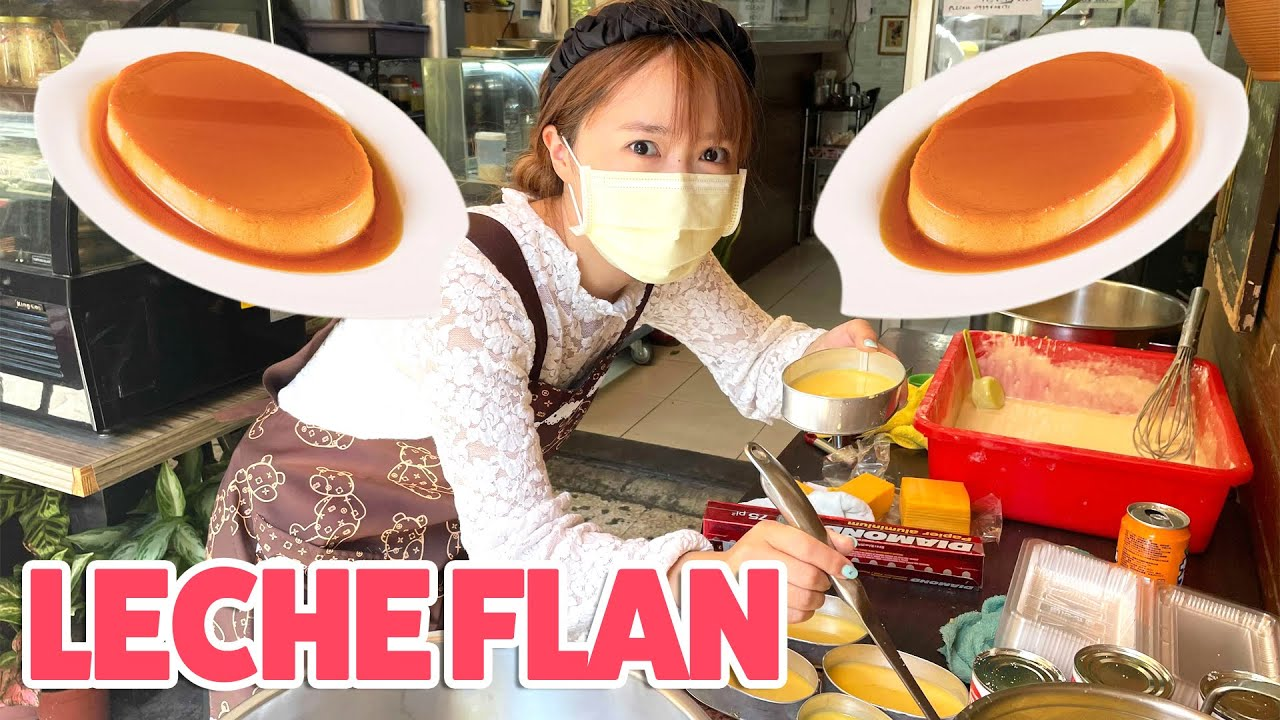 Making Leche Flan | Working At Filipino Restaurant As a Chef 🍮