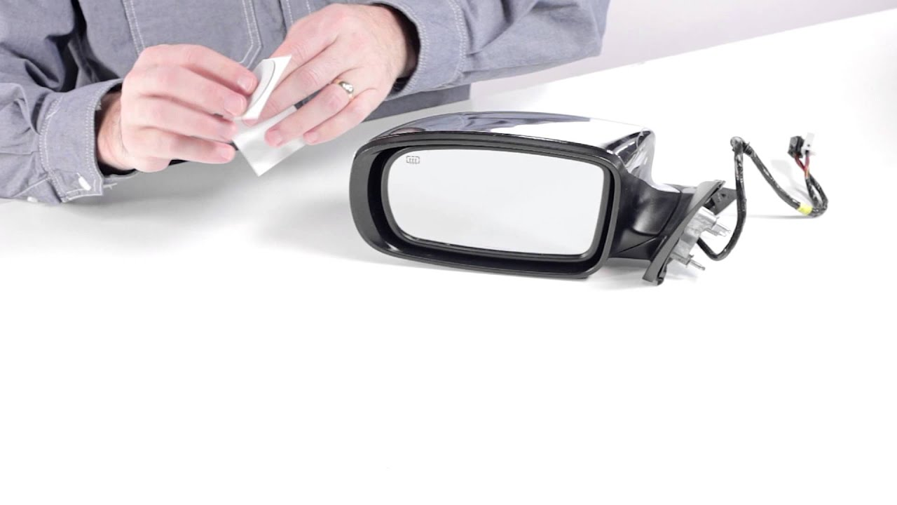 How To Replace A Broken Side Mirror Glass With A Fit Over Burco Redi Cut