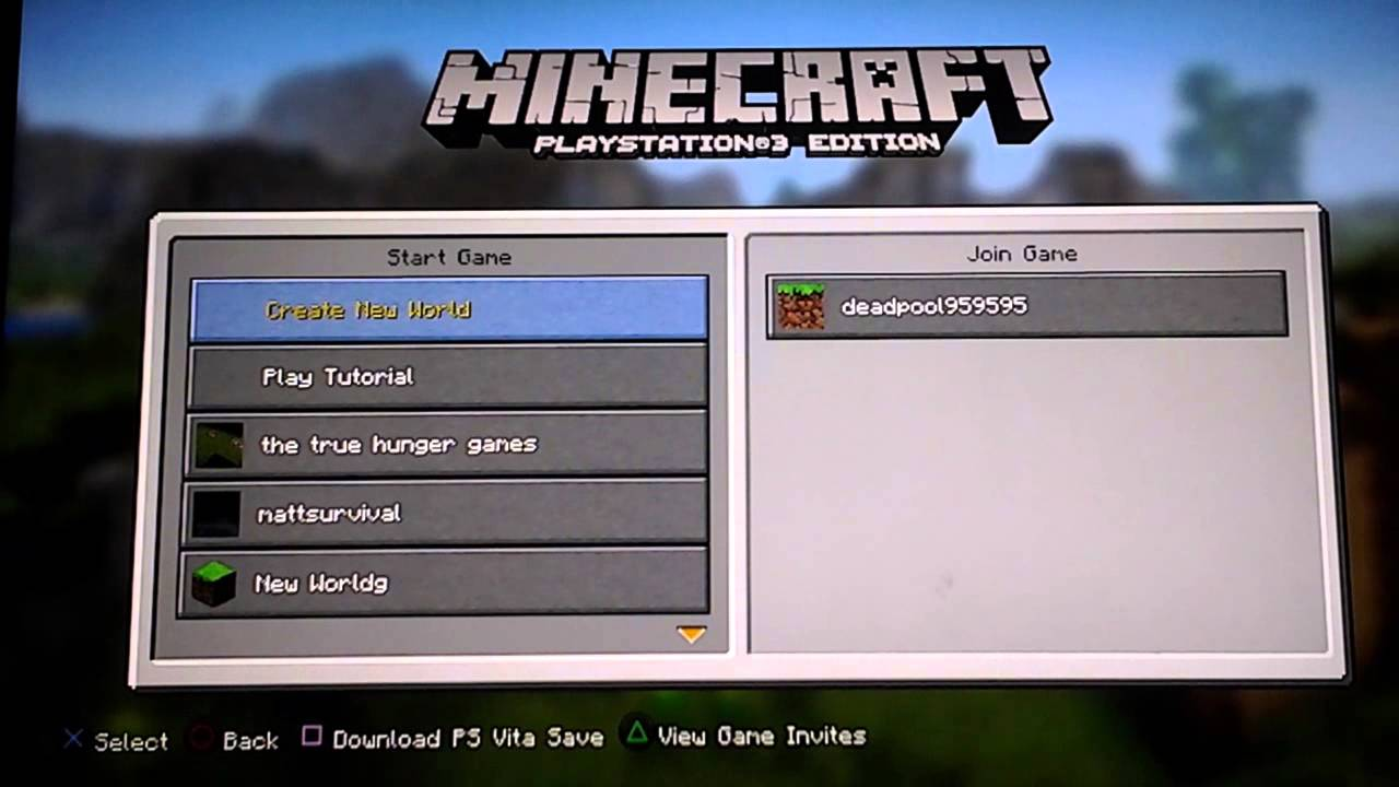 How To Join Minecraft Servers On PS YouTube - Minecraft spiele fur ps3