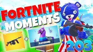 WHEN PRO PLAYERS 1v1 IN PLAYGROUND!! (NEW DRUM GUN IS OP!) | Fortnite Funny Moments 203