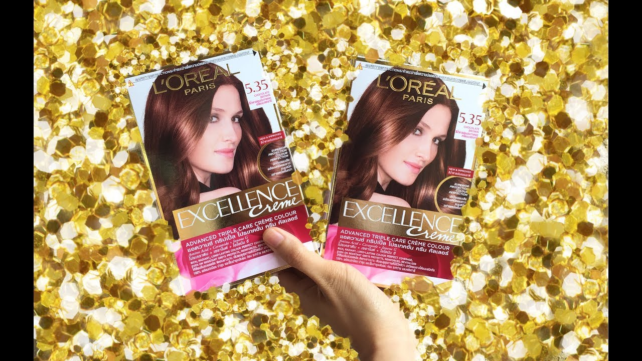 Loreal Excellence Chocolate Brown 5 35 Natural Browns Youtube